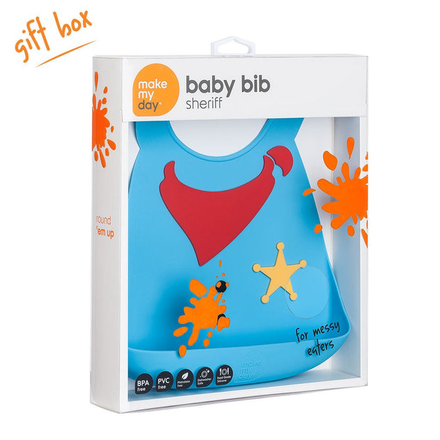 Soft Baby Bib | Sheriff, Baby Bibs, Make My Day, Inc - O&Lo