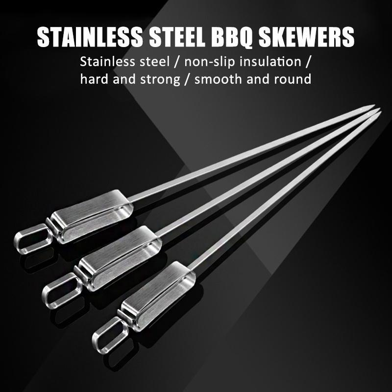 Stainless Steel BBQ Skewers (Buy 10 pcs enjoys free shipping)