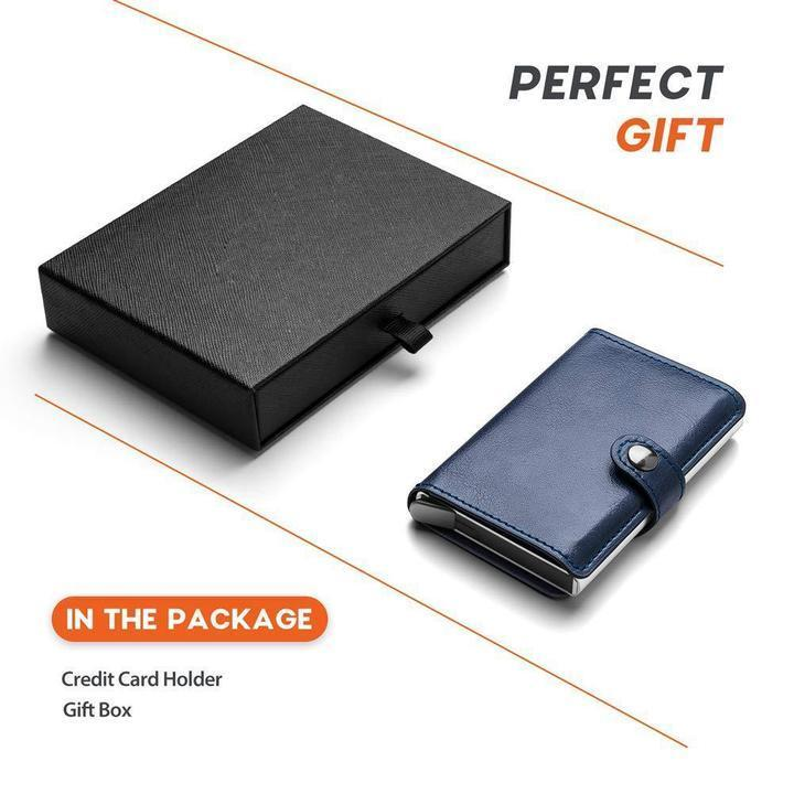 Anti-theft-RFID Auto Pop-up Leather Card Wallet-80%OFF