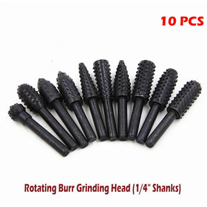"Premium Rotating Burr Grinding Head (1/4"" Shanks)"