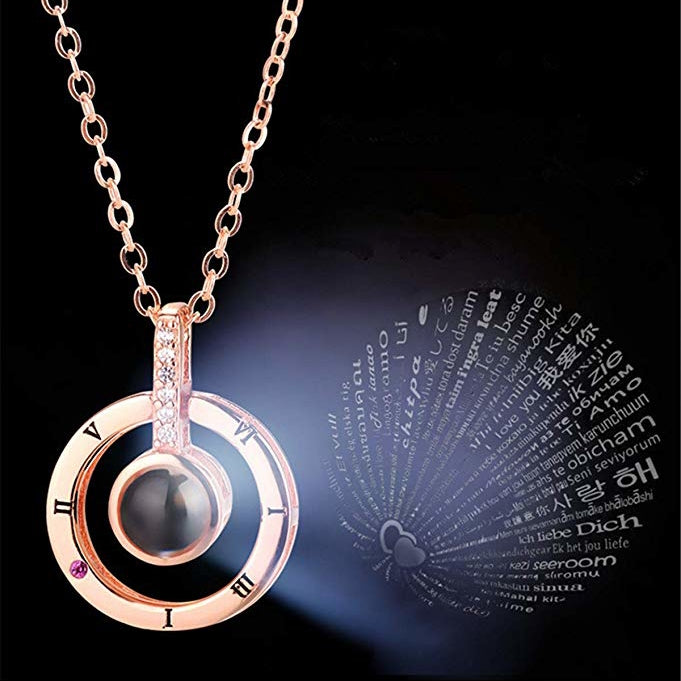 "Gift for Her - 100 Different Languages of ""I Love You"" Necklace"