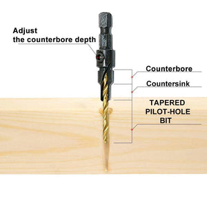 imglifeshop™ Premium HSS Countersink Drill Bit Set - 53% OFF NOW