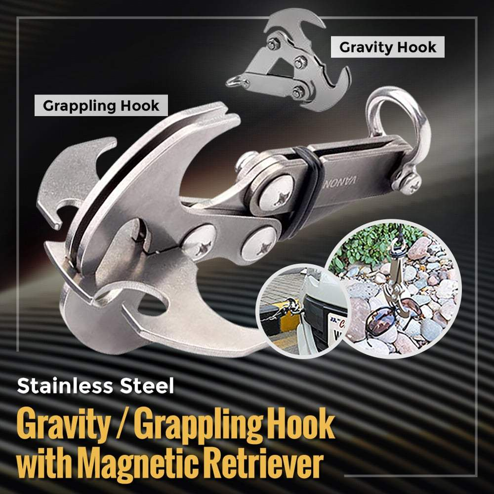 Stainless Steel Gravity/Grappling Hook - 50% Off For The Second One