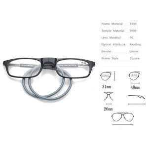 Upgraded Magnetic Reading Glasses - 52% OFF