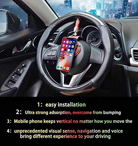 Car Steering Wheel Phone Bracket - Always Keeps The Phone Vertical