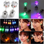 Glowing Diamond LED Luminous Alloy Earrings - 1 Pair