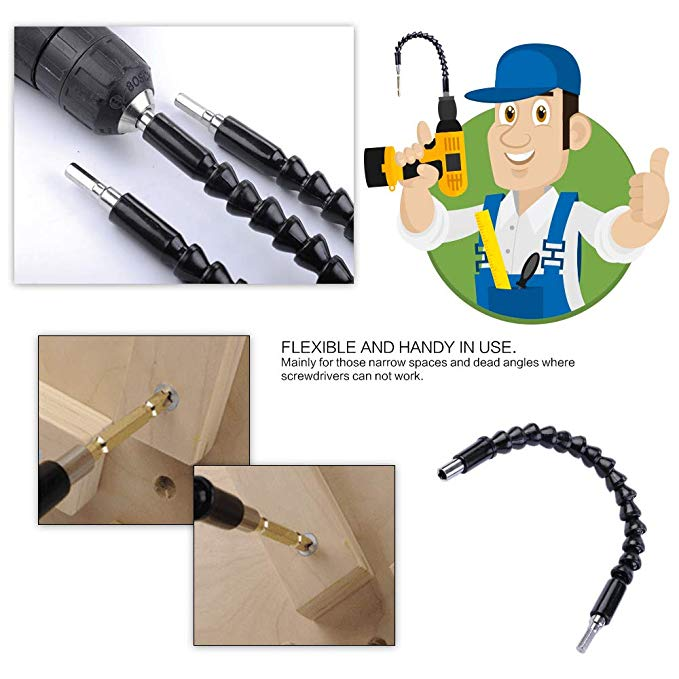 Flexible Drill Bit Screwdriver Connectors