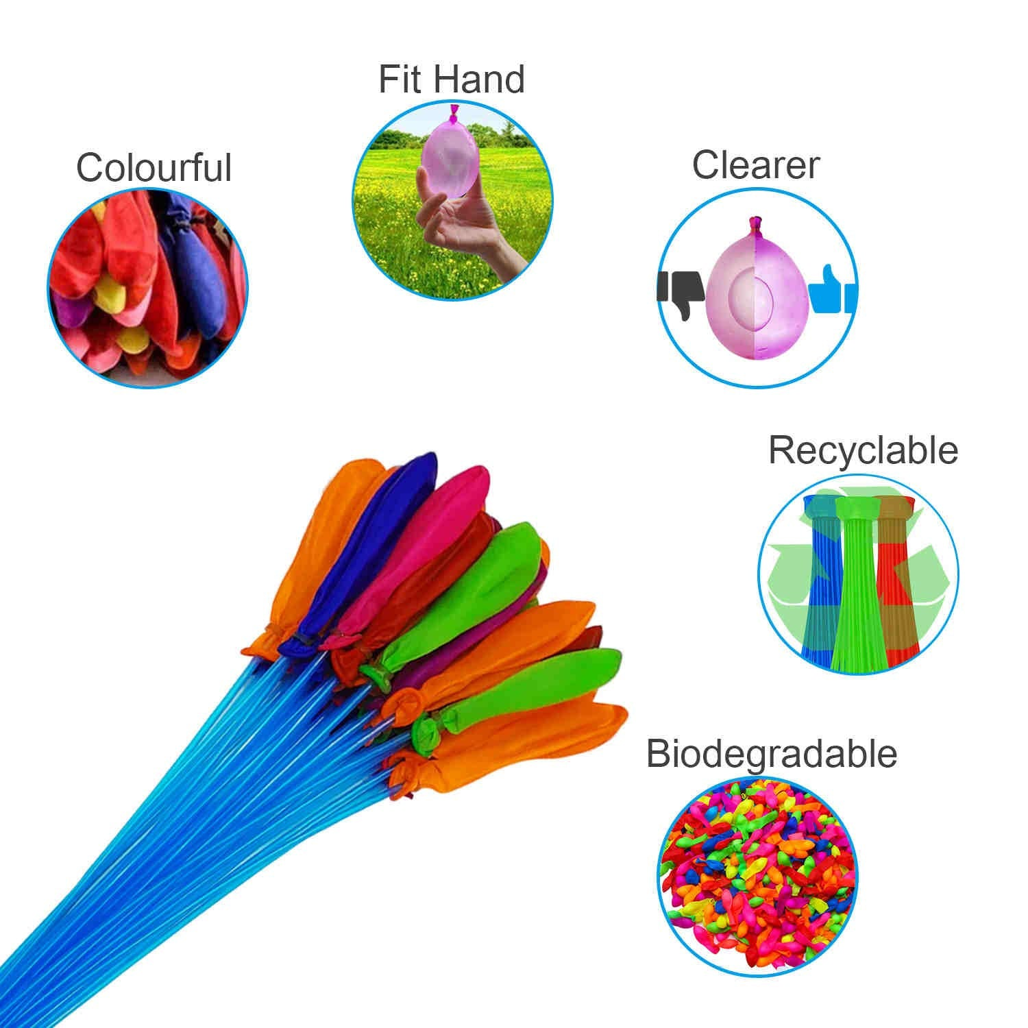 Rapid-Filling Self-Sealing Water Balloons (3 bunches – 111 Total Water Balloons)