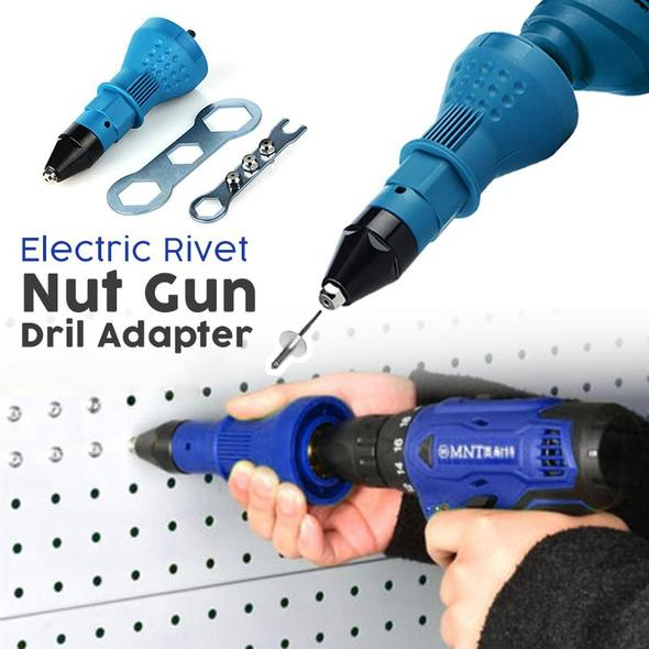 Electric Rivet Nut Gun Drill Adapter
