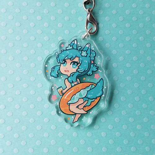 Fruity Beach Girl: Okachi Acrylic Charm