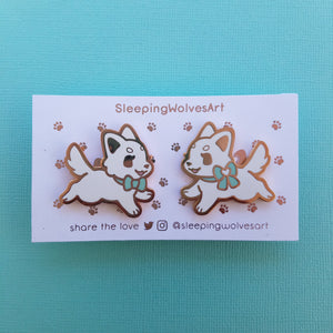 Pastel Puppy Collar Pins