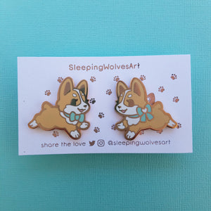 Corgi Puppy Collar Pins