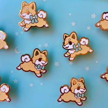 Load image into Gallery viewer, Shiba Inu Puppy Collar Pins - Red Mint