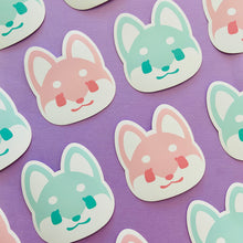 Load image into Gallery viewer, Pastel Shiba Inu Head Stickers
