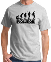 "Mens ""The Evolution of Fitness"" Funny Gym T-shirt - Ash Grey"
