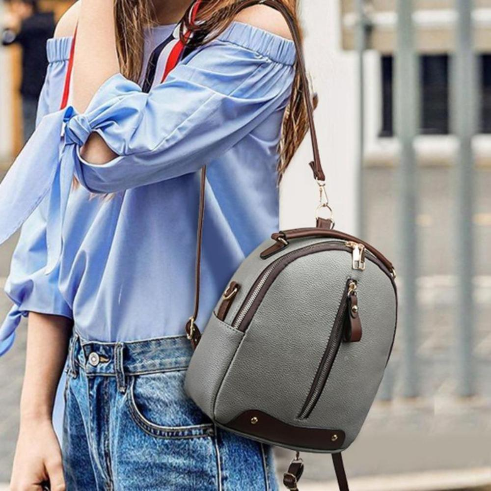 Leather Backpack mochila Women Big Zipper Backpack Student Bag Backpack Female Large Casual Travel Bags mochila feminina sac - TendanceBoutique.fr