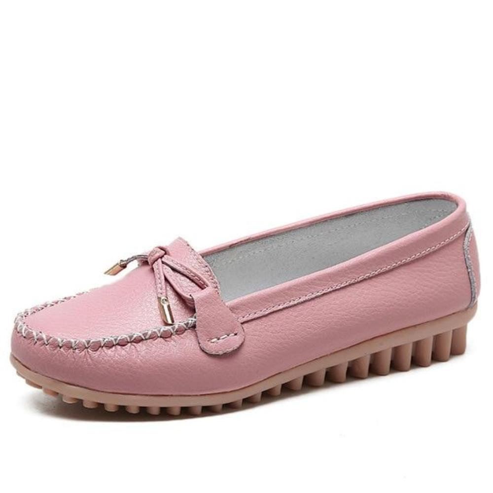 O16U Spring women ballerina Flats shoes Cow Leather loafers slip on moccasins Ladies Ballet Flat espadrilles Shoes Women Loafers - TendanceBoutique.fr