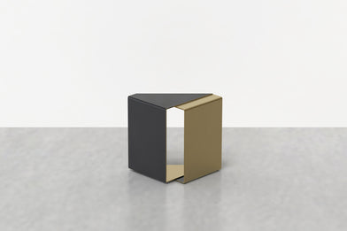 Fold End Table in Brass