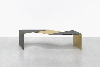 Fold Bench in Brass