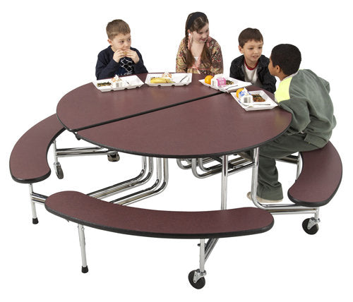 Sico Cafeteria Table Oval Bench Style