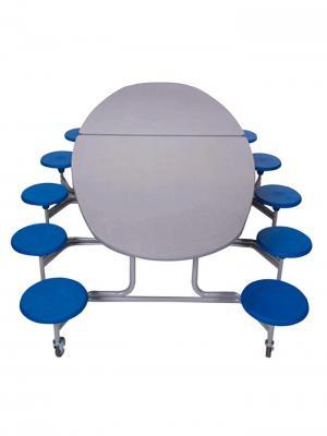 Sico Cafeteria Table 10' - 12 Stool Elliptical