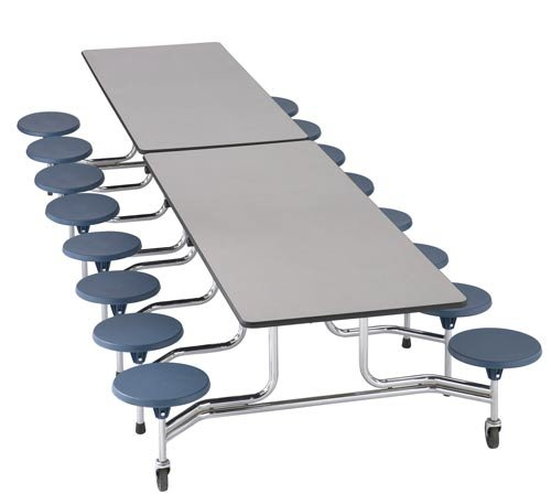 Sico Cafeteria Table 12' - 16 Stool Rectangle