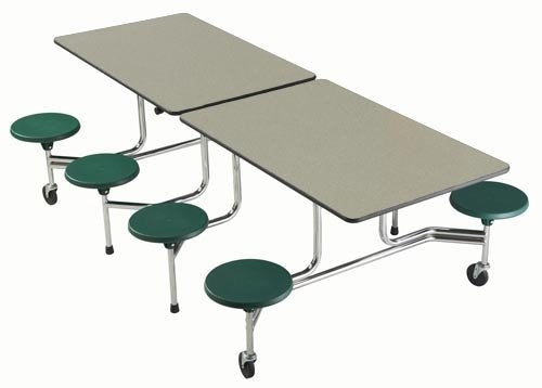 Sico Cafeteria Table 8' - 8 Stool Rectangle