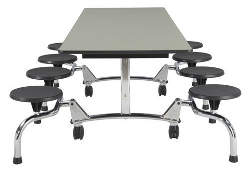 "Sico Undergraduate Cafeteria Table 80L"" - 8 Stool"