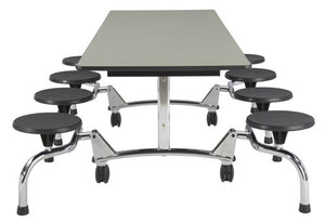 "Sico Undergraduate Cafeteria Table 92""L - 8 Stool"