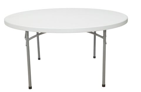 Lightweight Round Folding Tables, National Public Seating BT60 Series