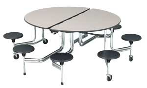 Sico Cafeteria Table 8 Stool Oval