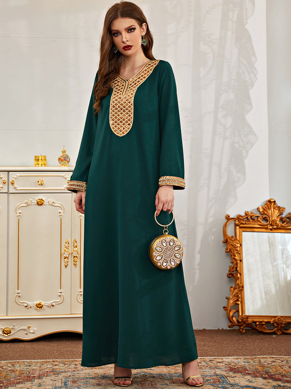 Plus Size Formal Green Abaya