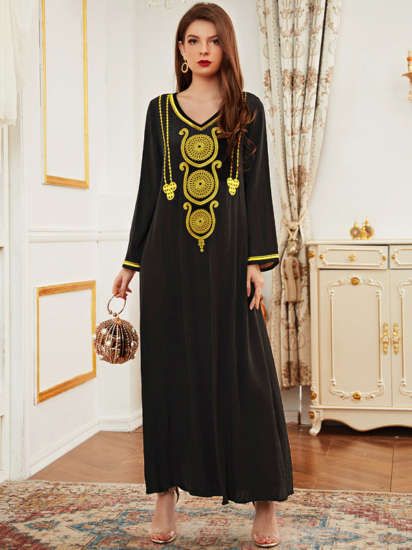 Plus Size Black Formal Abaya