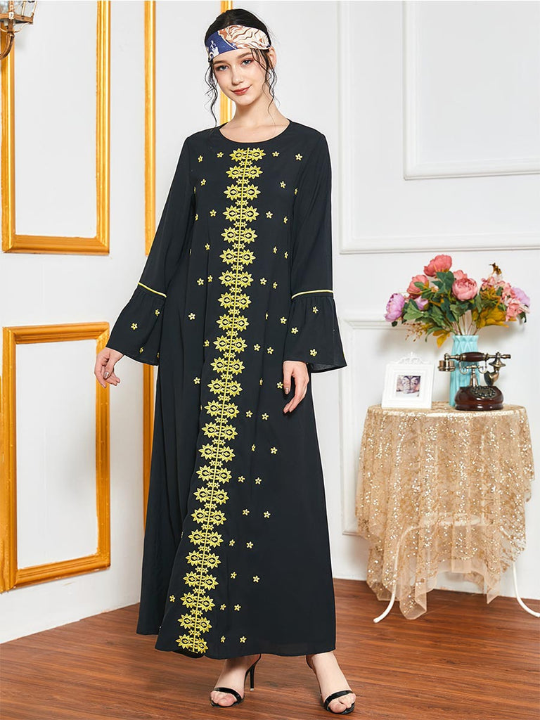 Noor-ul-ann Plus Size Embroidered Muslimah Dress Jubah