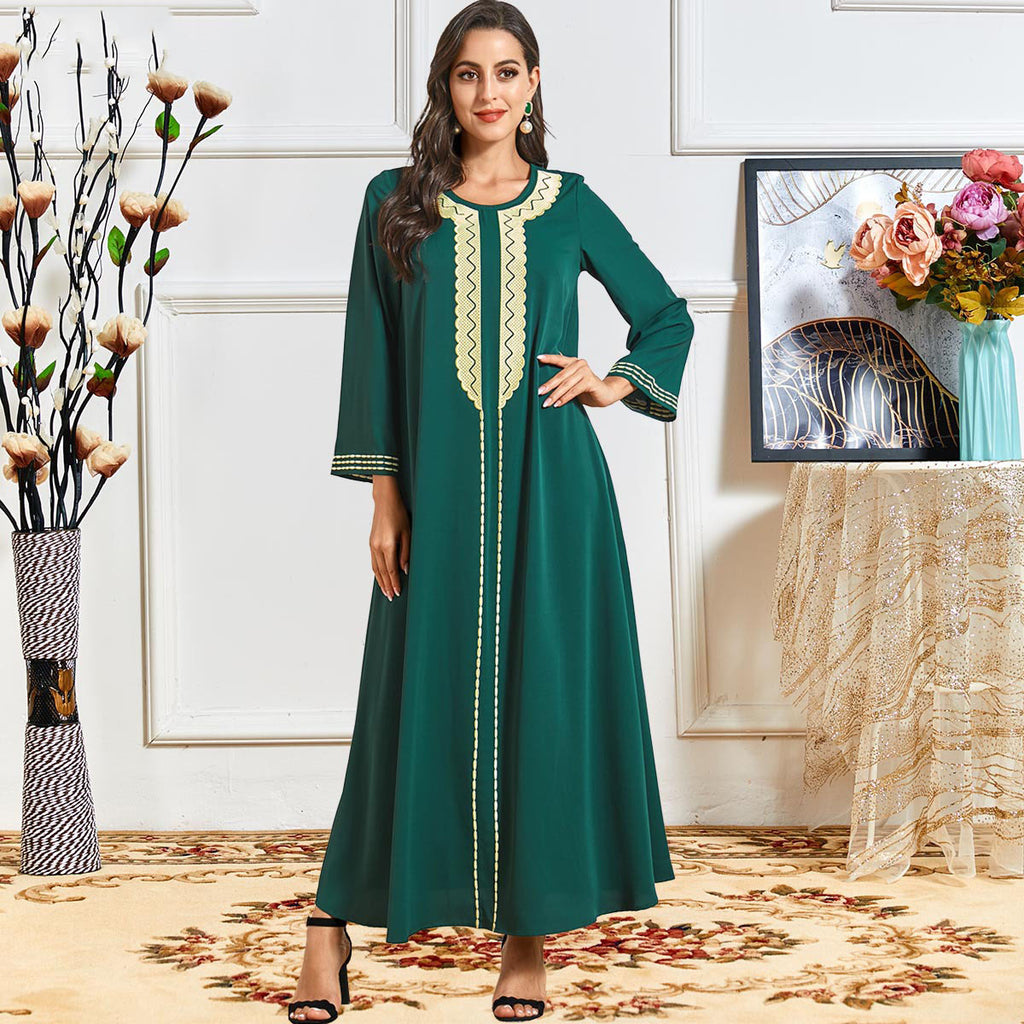 Rabiya Plus Size Green Muslimah Dress