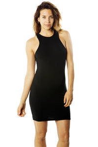 Ladies fashion  soft knit bodycon sleeveless tank midi dress