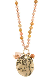Tree of life beaded necklace set