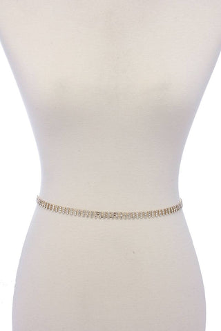 Thin rhinestone belt
