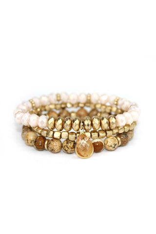 3 layers triple stretch bracelet