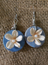 "Load image into Gallery viewer, Earrings - Circle -1"" - Mache Flower"