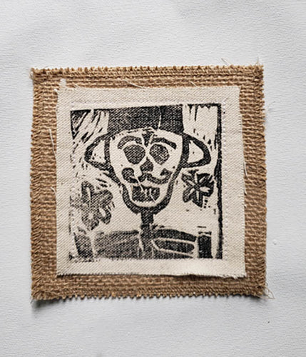 Coaster - Canvas with Burlap 5x5
