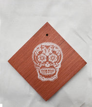 Load image into Gallery viewer, Coaster/ Ornament - Wood Square 4x4 - Day of the Dead