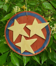 "Load image into Gallery viewer, Ornament - 6.5"" Wood Circle - Tri-Star"