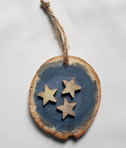 Ornament - Wood Branch - Tri-Star