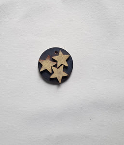 "Ornament - Wood Circle 2"" - Tri-Star"