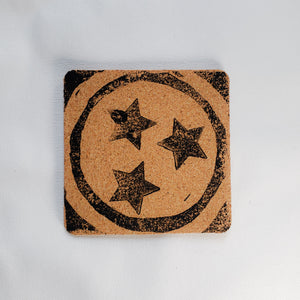 "Coaster - Square Cork 4"" (1/8 Depth) - Tri-Star"