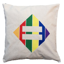 Load image into Gallery viewer, Pillow - Canvas 16x16 - Rainbow Diamond Equal