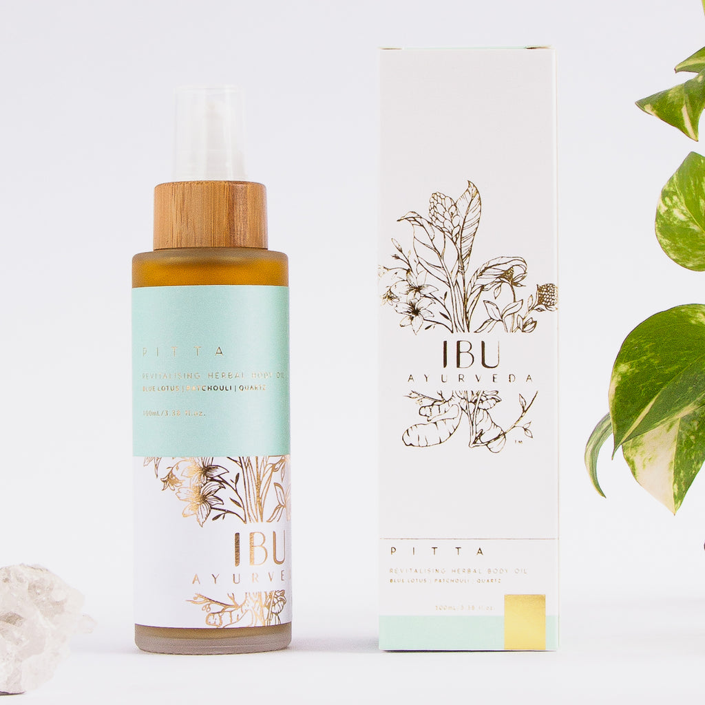 PITTA Revitalising Herbal Body Oil - Ibu Ayurveda