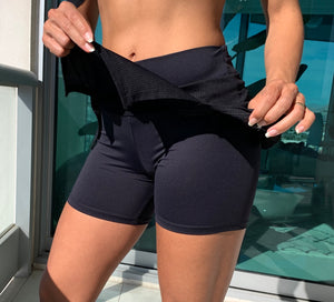 Balance - Training Short/Skirt Black - HEALTHY GAL