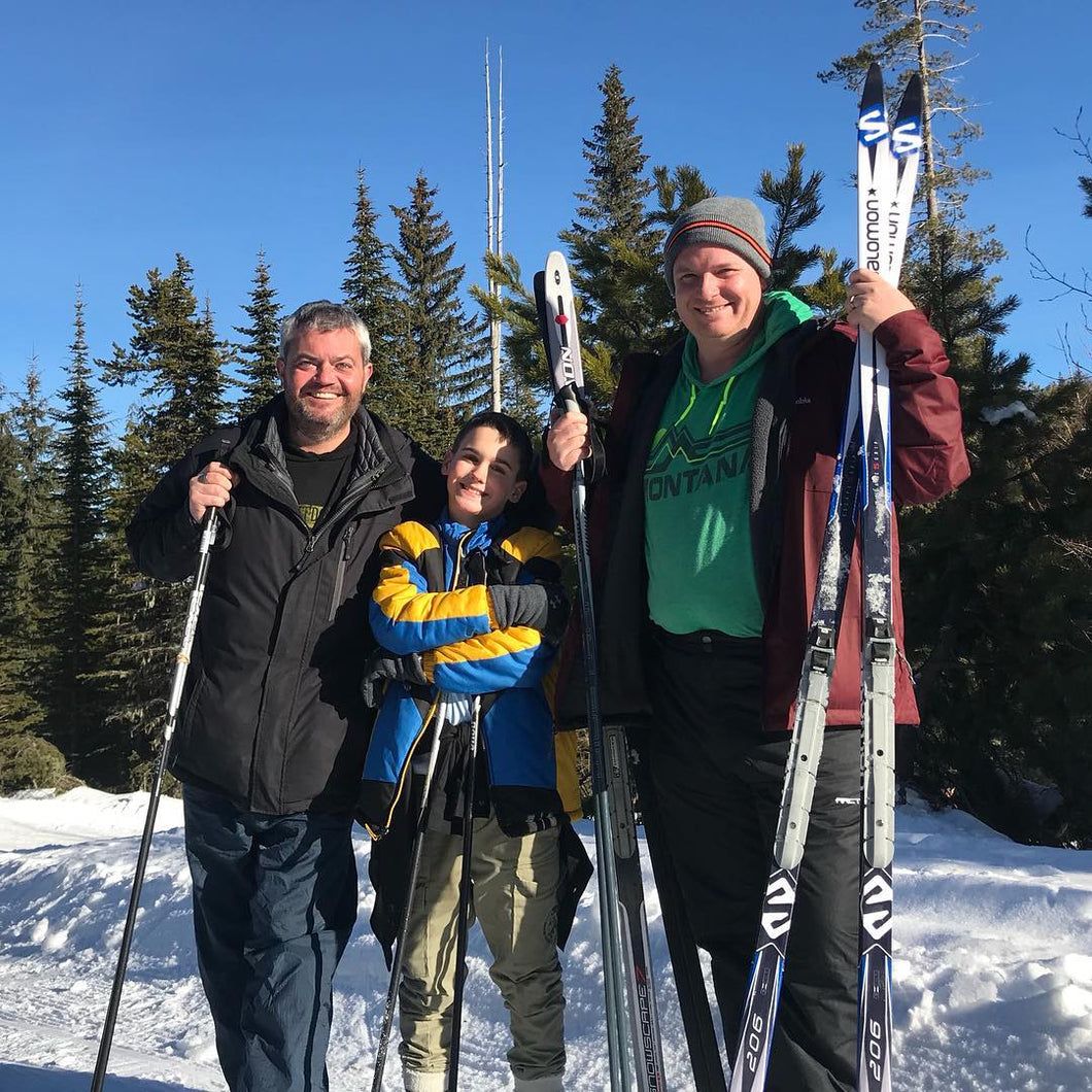 Spokane area guided snow-shoe and cross country ski lessons for all beginners and intermediates
